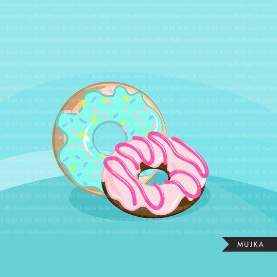 Donut Clipart. Cute kawaii donuts, glazed , colorful ... (570 x 570 Pixel)