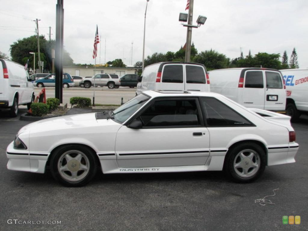 Image detail for oxford white 1992 ford mustang gt coupe exterior