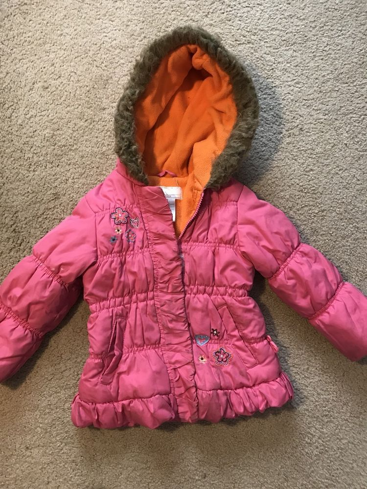 c1be02bc488a Winter Coat for Girl Size 3T Pink With Hood Good Condition  fashion ...