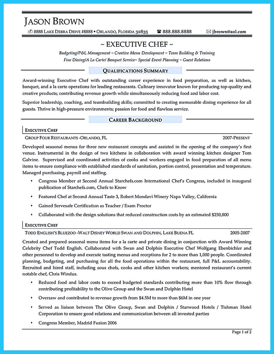Corporate Executive Chef Sample Resume Entrancing Internet Offers Various Bartender Resume Template And Samples That .