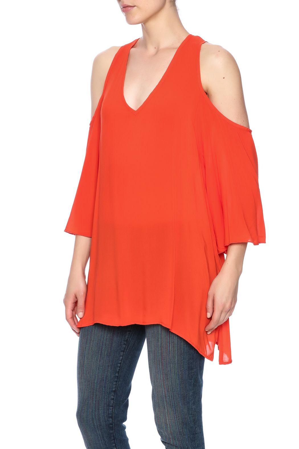 2d639cc7cef6cc Tangerine oversized top with 3 4 sleeves