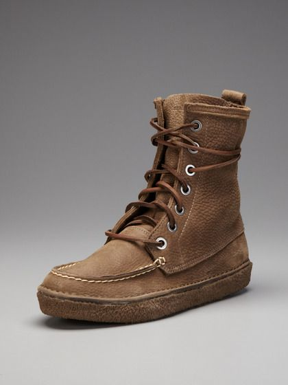 Pebbled Leather Trail Boots