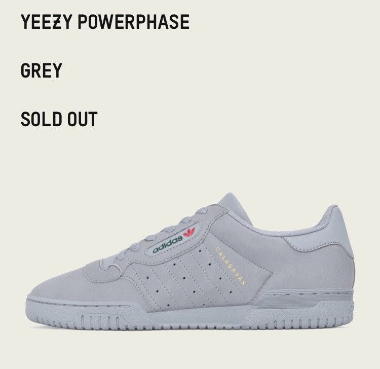 73ba613e Adidas Yeezy Powerphase Calabasas Trainers Shoes - UK10.5 US 11 ...