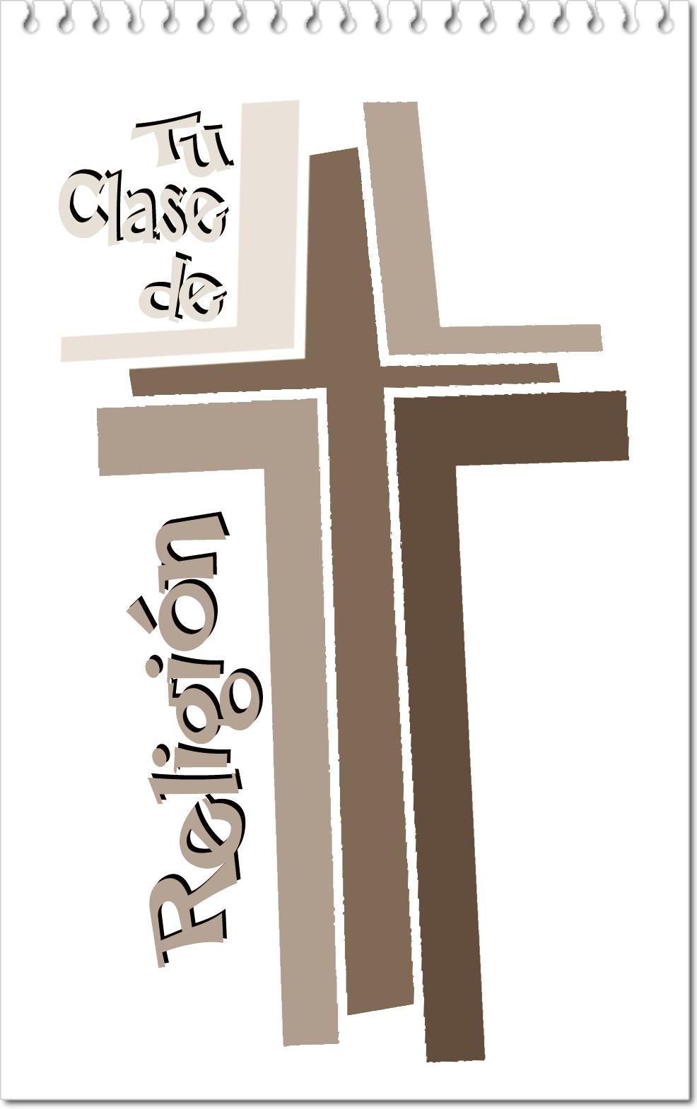 Cruz Blanco y Negro Clase de Religión