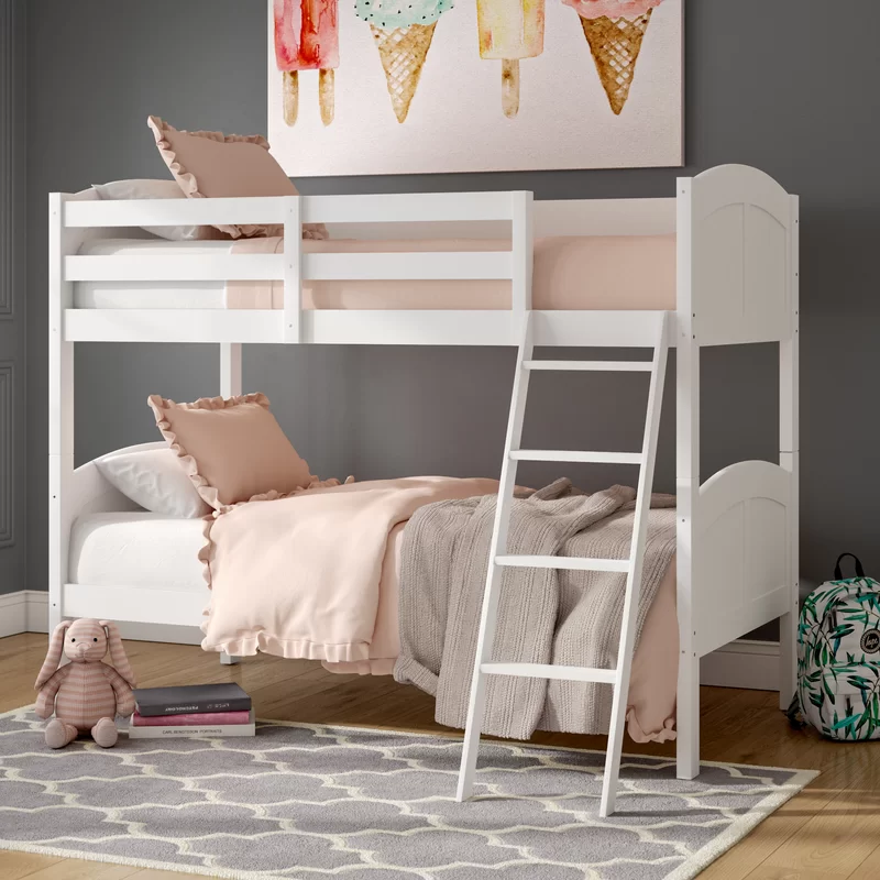 Romo Twin Over Twin Bunk Bed In 2020 Twin Bunk Beds Bunk Beds Girls Bunk Beds