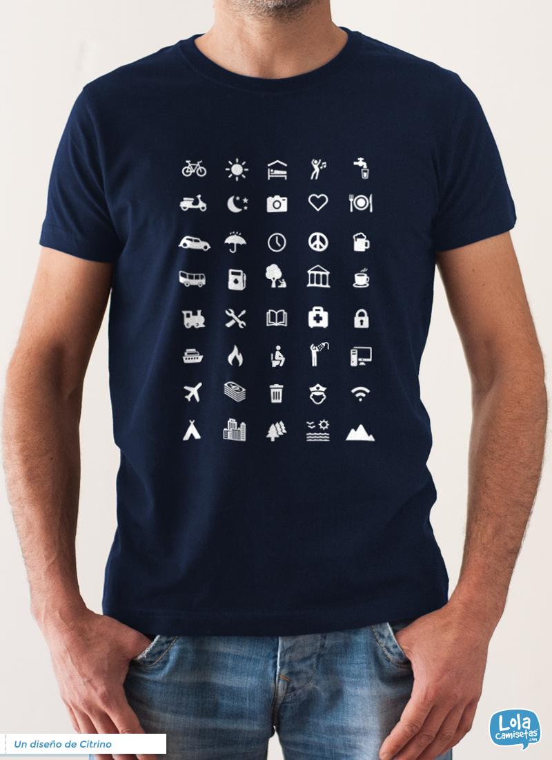 Camiseta Iconos Lenguaje Universal  8265974f6eca5