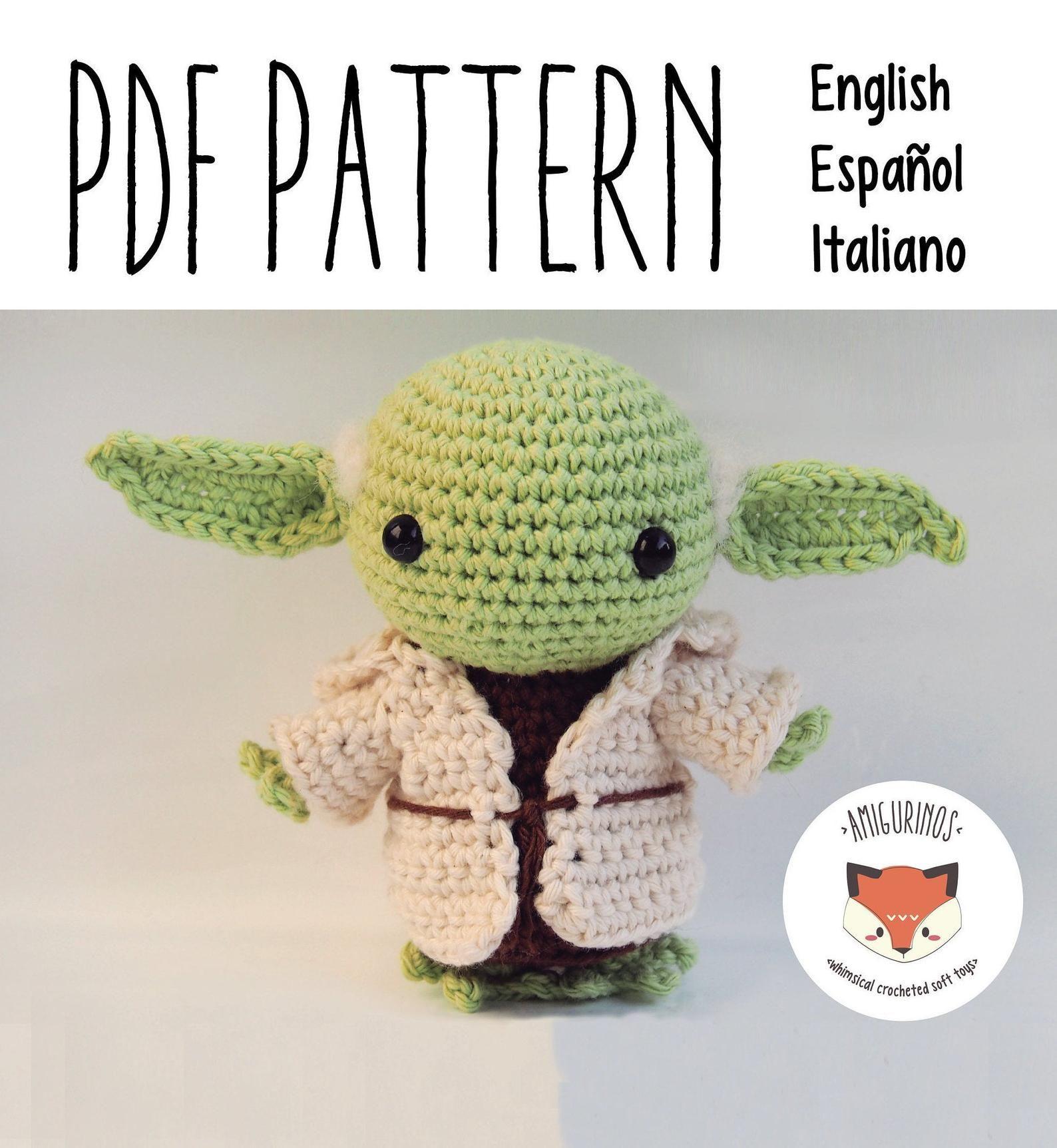 Pdf Crochet Chibi Alien Amigurumi Pattern Detailed Etsy Amigurumi Free Pattern Amigurumi Pattern Star Wars Crochet