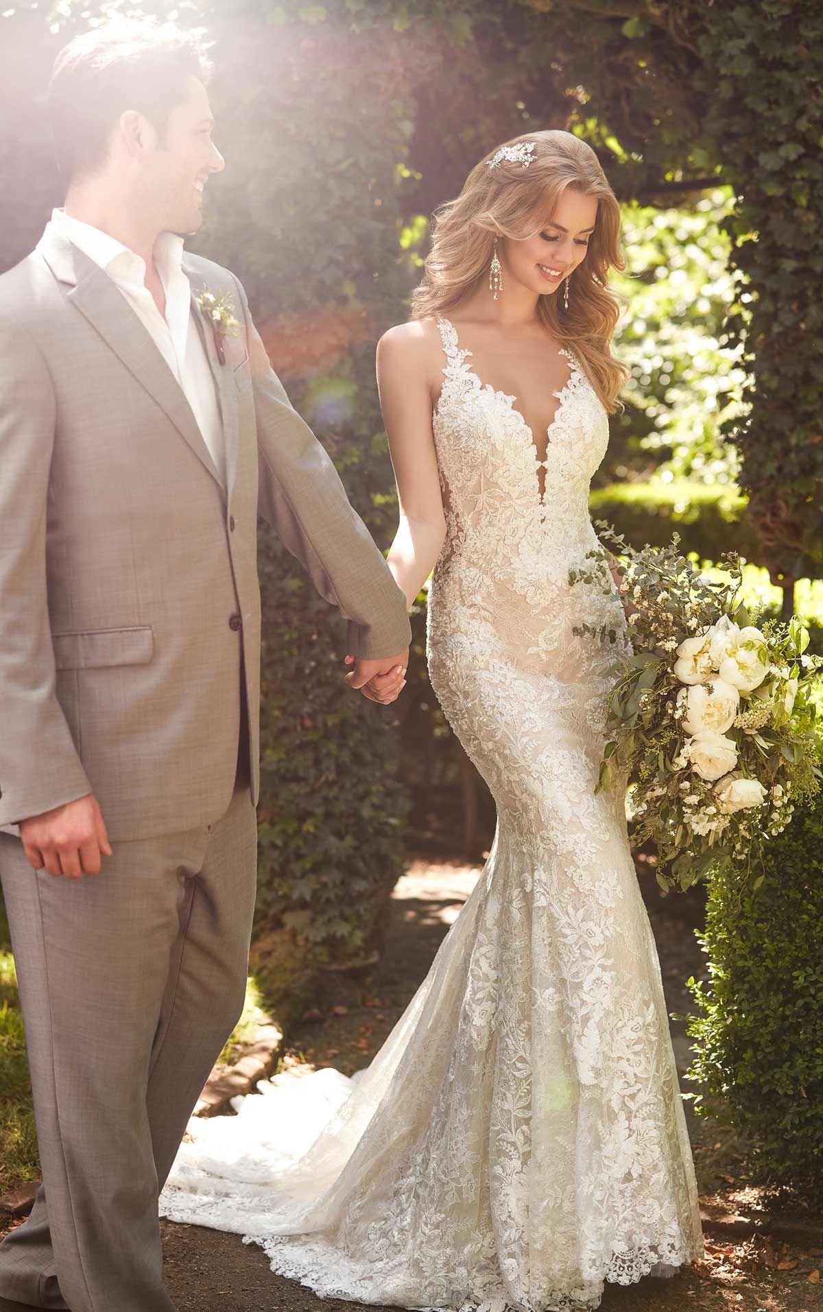 Martina Liana 753 Wedding Dress Used Size 10 1 300 Dresses Wedding Dresses Lace Side