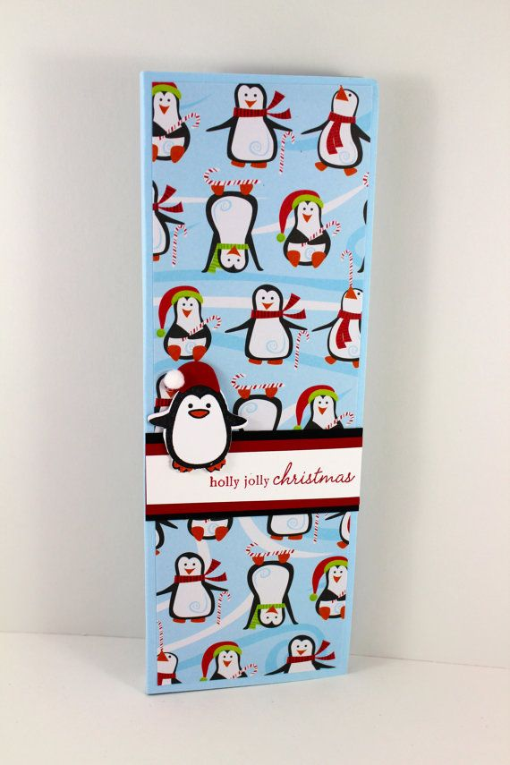 Holly Jolly Penguin Notebook by Hairchick on Etsy, $6.00