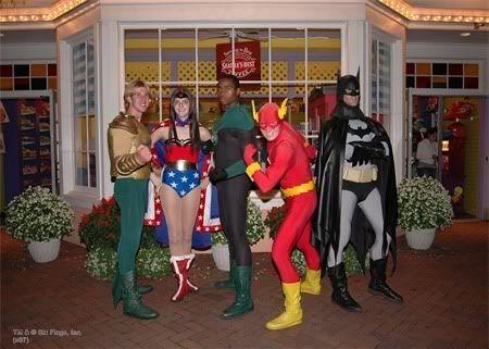 Six Flags GA. Super Heroes and Heroines :)