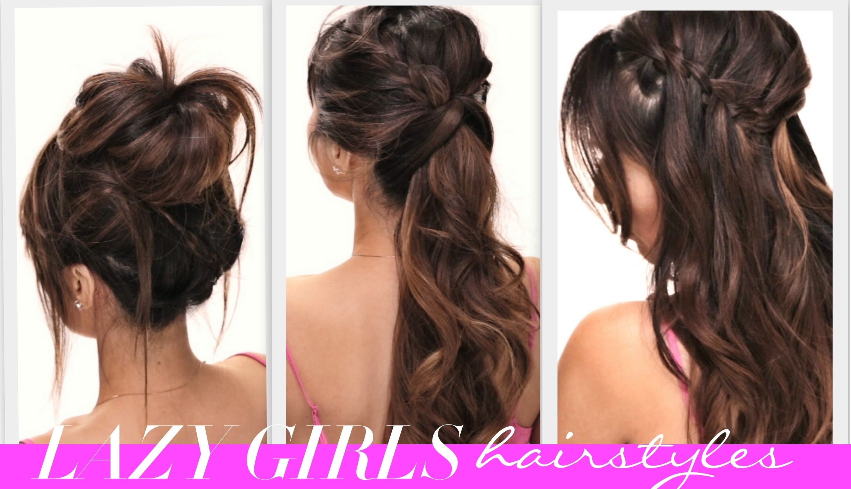 ★4 EASY Lazy Girls BACK-TO-SCHOOL HAIRSTYLES   CUTE HAIRSTYLE   BRAIDS +...