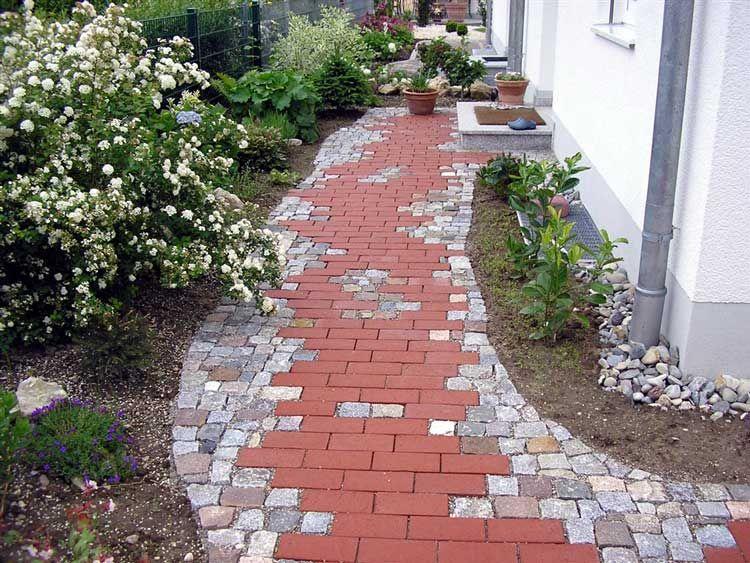 Top Klinker mit Natursteinwildpflaster | Garten | Garten, Klinker YY46