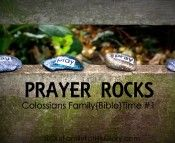 Prayer Rocks- Family Time
