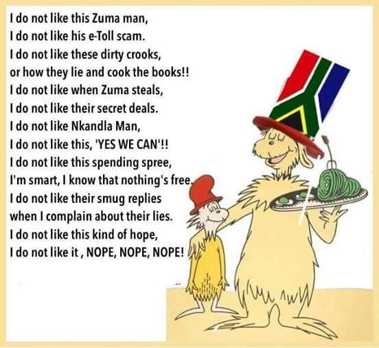 South African Joke Poem Political Cartoons Political Satire
