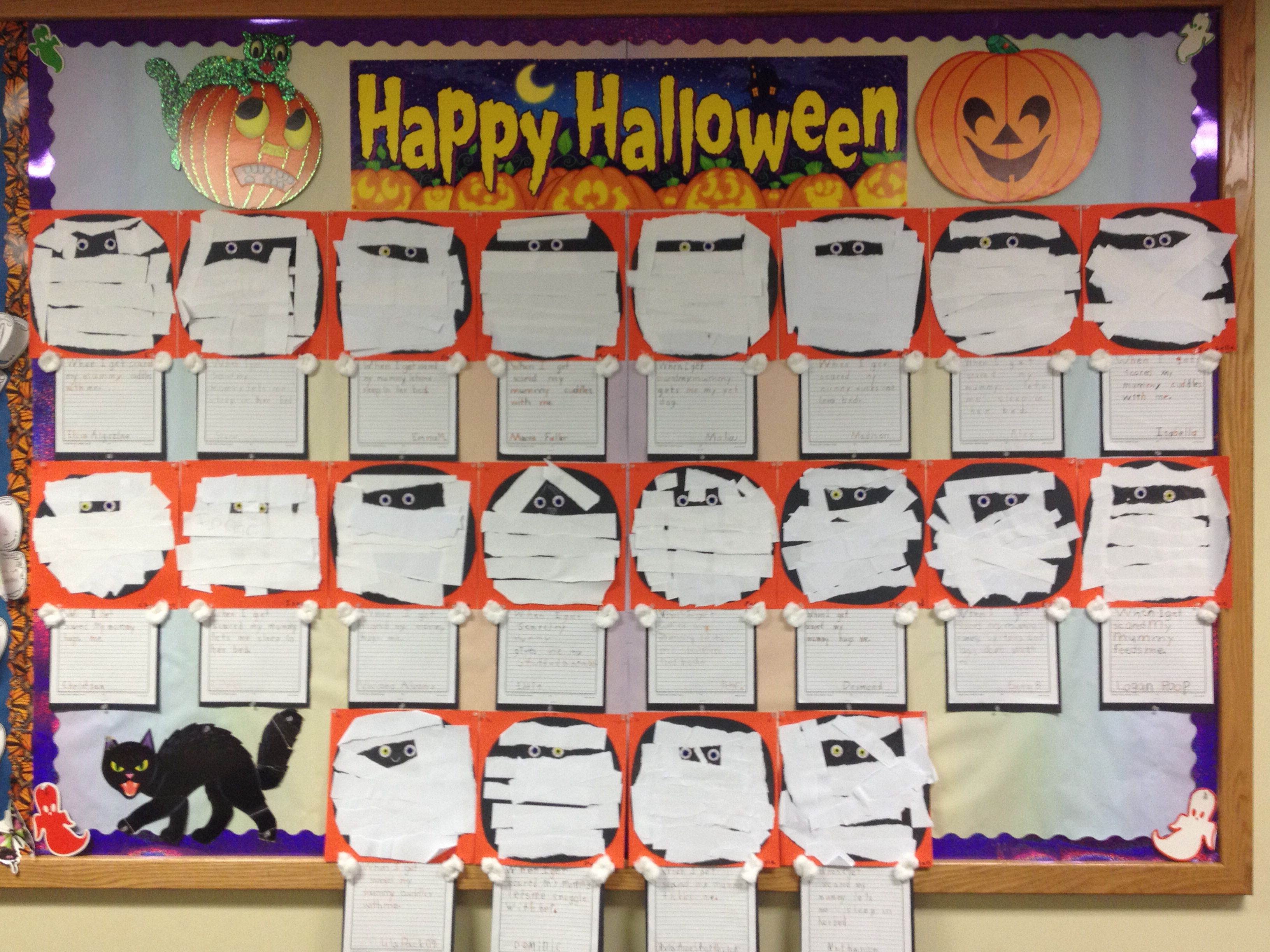 Mummy Themed Halloween Bulletin Board
