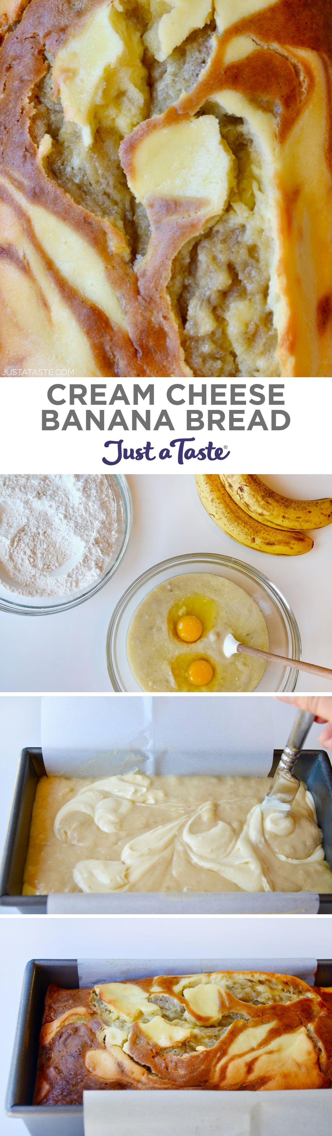 Cream Cheese Banana Bread Recipe From Justataste Com Recipe Banana Creamcheese Justataste Banana Bread Recipes Banana Recipes Dessert Bread