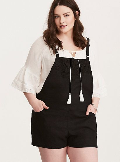 26bc33c99c5d Embroidered Linen OverallsEmbroidered Linen Overalls