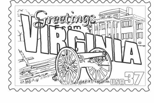 Va Postcard Page Coloring Pages Homeschool Social Studies
