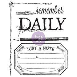 Stationer's Desk Clear Stamps - Daily