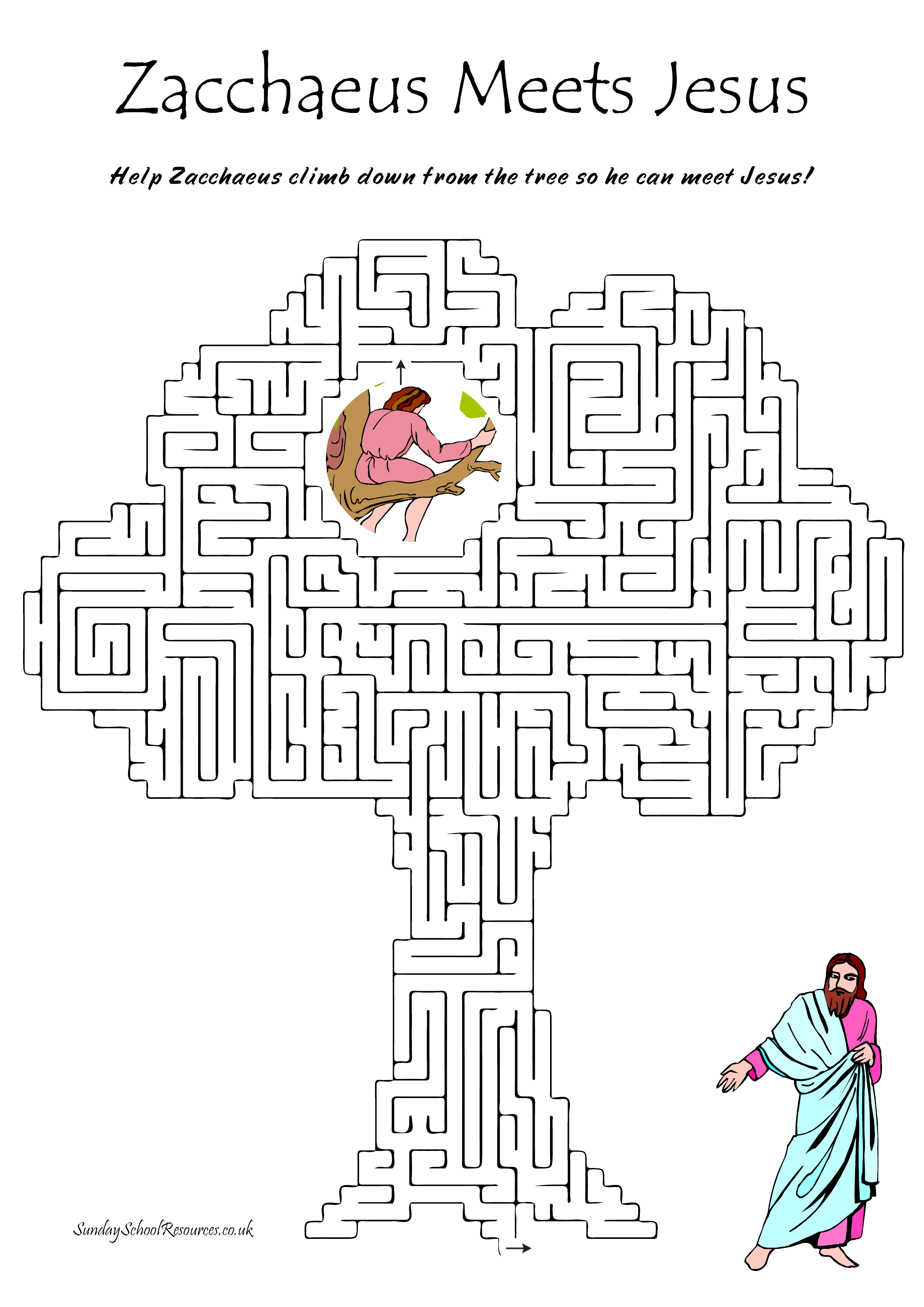 Zacchaeus Bible Maze