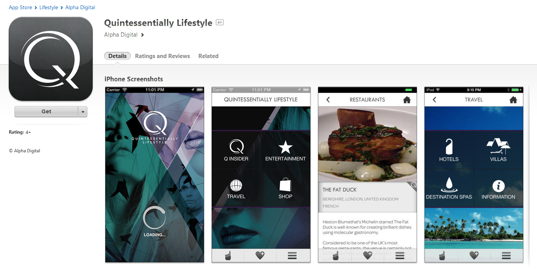 Quintessentially App