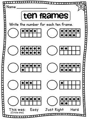 First Grade Math Unit 1 Number Sense Counting Forward Ten Frames And More First Grade Math Math School Ten Frames