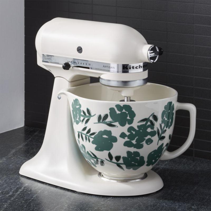 Kitchenaid 5 Qt Flora Ceramic Bowl Kitchenaid Mixer Colors