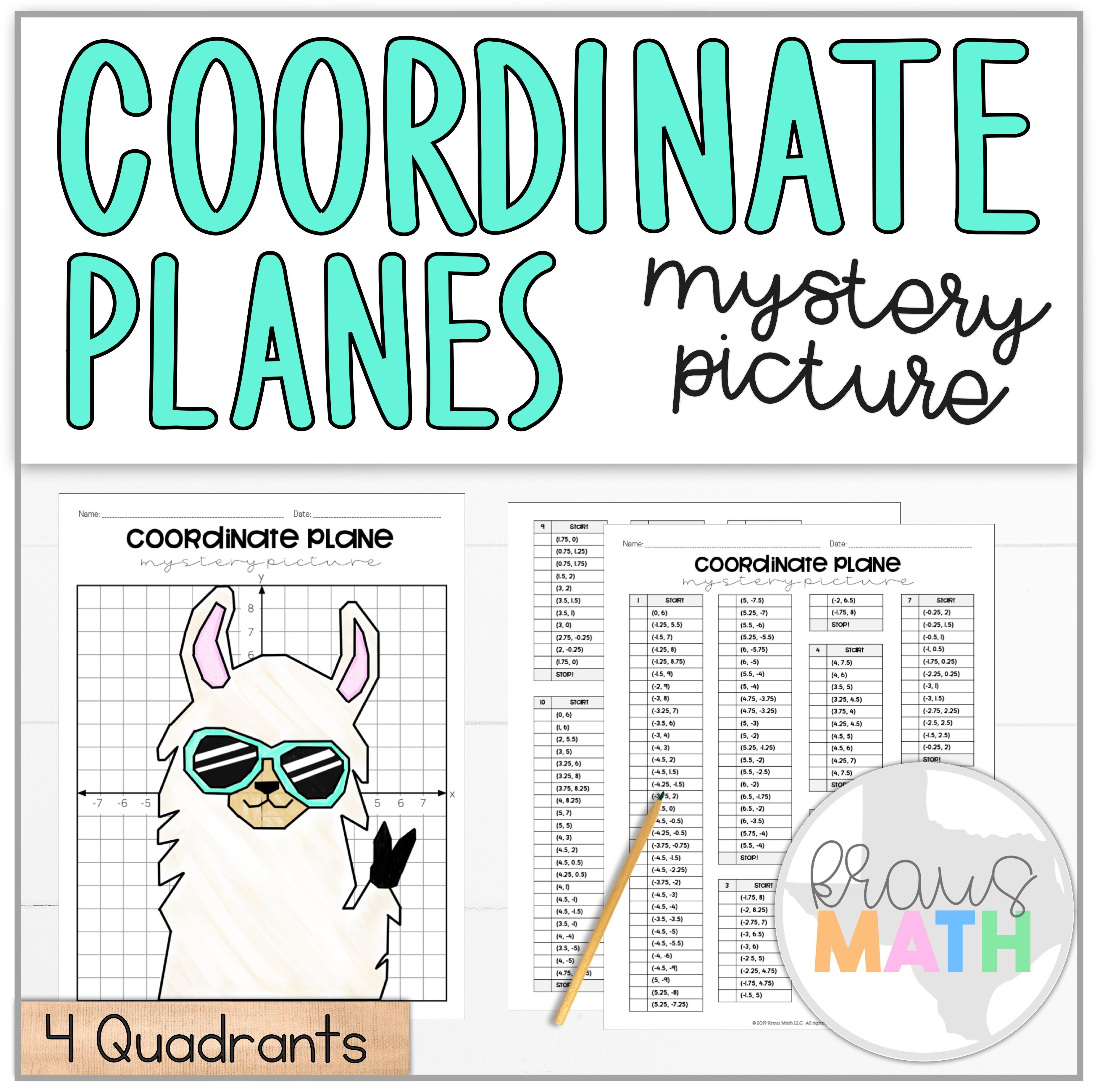 Llama Peace Out Coordinate Plane Mystery Picture 4