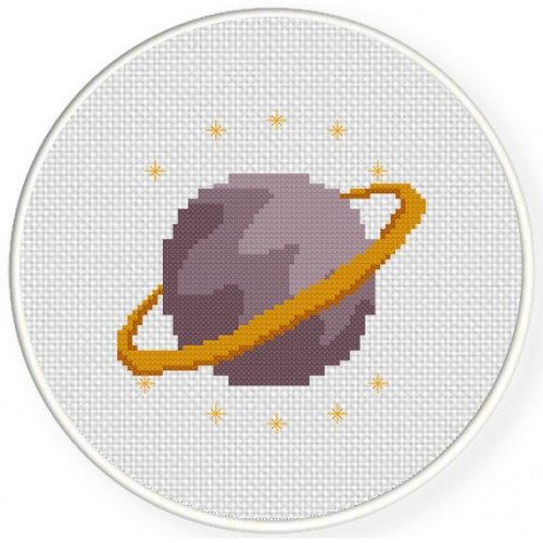 Planet Handmade Unframed Cross Stitch Planet by CustomCraftJewelry