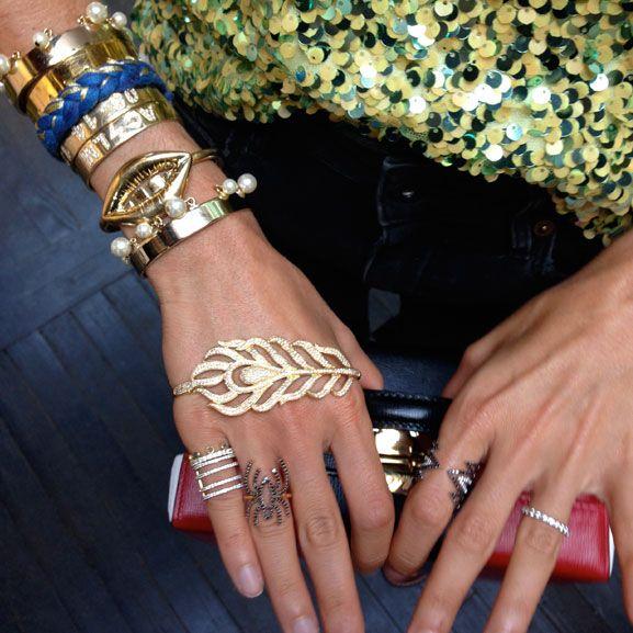 Leandra Medine of Man Repeller wears Khai Khai rings Aurelie