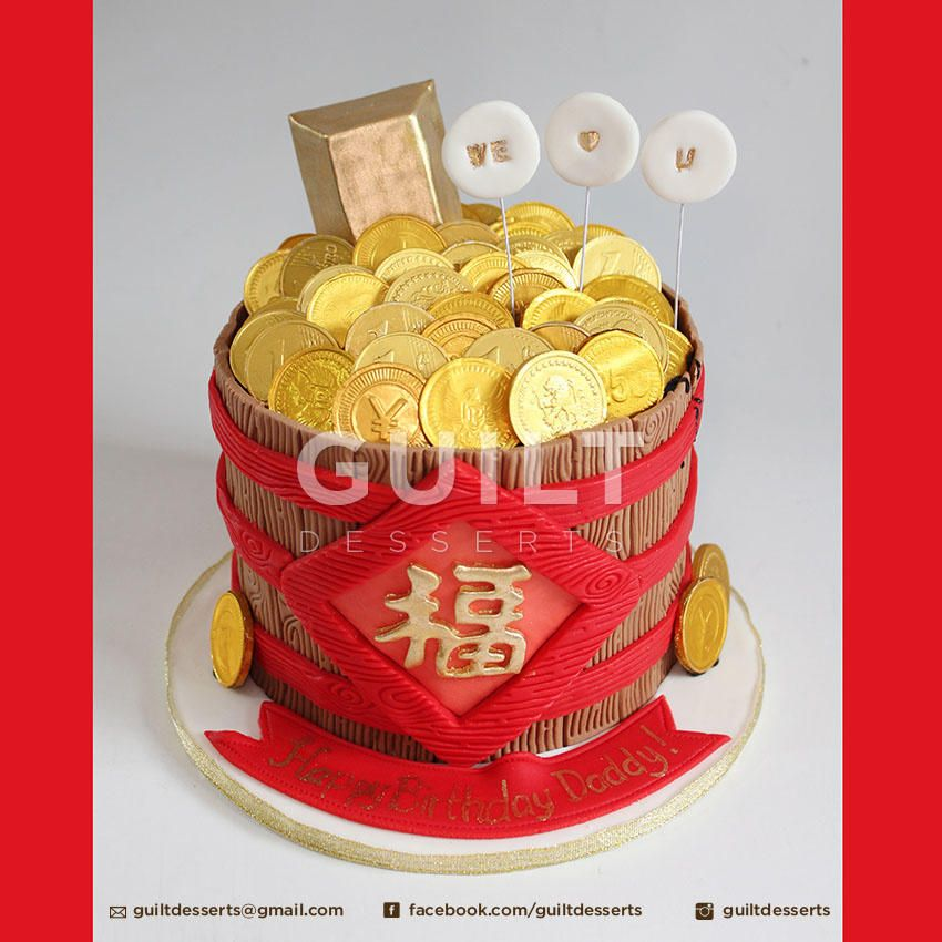 coin cake decoration