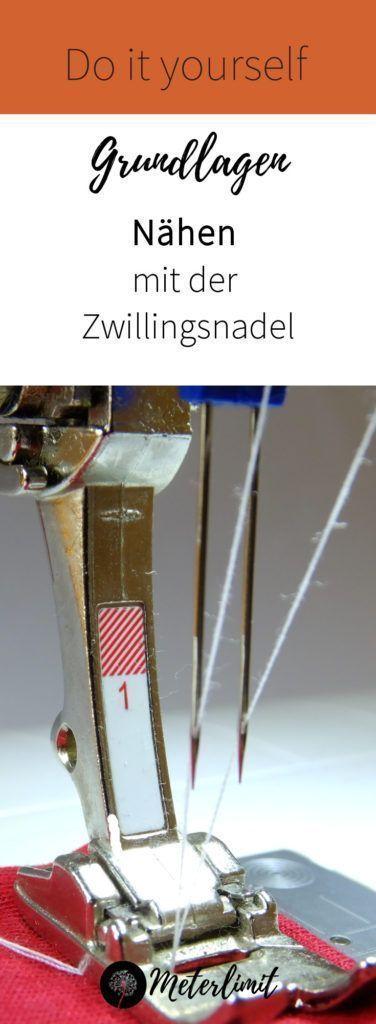 Deux c'est mieux! Coudre avec deux aiguilles – limite en mètres   – NÄHTIPPS FÜR ANFÄNGER – NÄHEN LERNEN