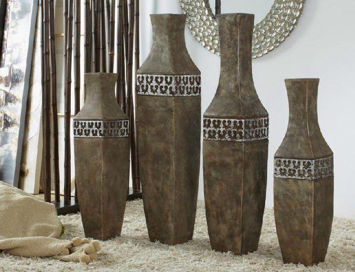 Bonitos jarrones decorativos hogar 10 pinterest for Jarrones de suelo modernos