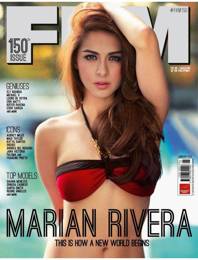 Marian Rivera Fhm Philippines January 2013 Marian Rivera Filipina Beauty Covergirl