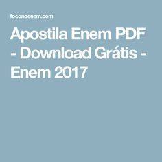 Apostila Enem 2020 Pdf Download Gratis Enem
