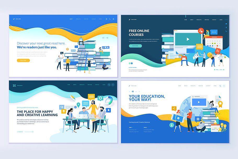 Web Design Templates For Education Web Template Design Template Design Education