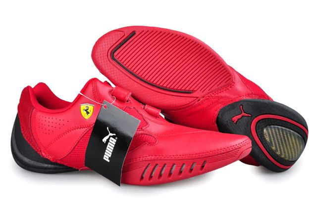 best website 903b8 8671b Puma Leather Ferrari Shoes Red in 2019   Suits   Pinterest   Mens puma  shoes, Puma sports shoes and Cheap puma shoes