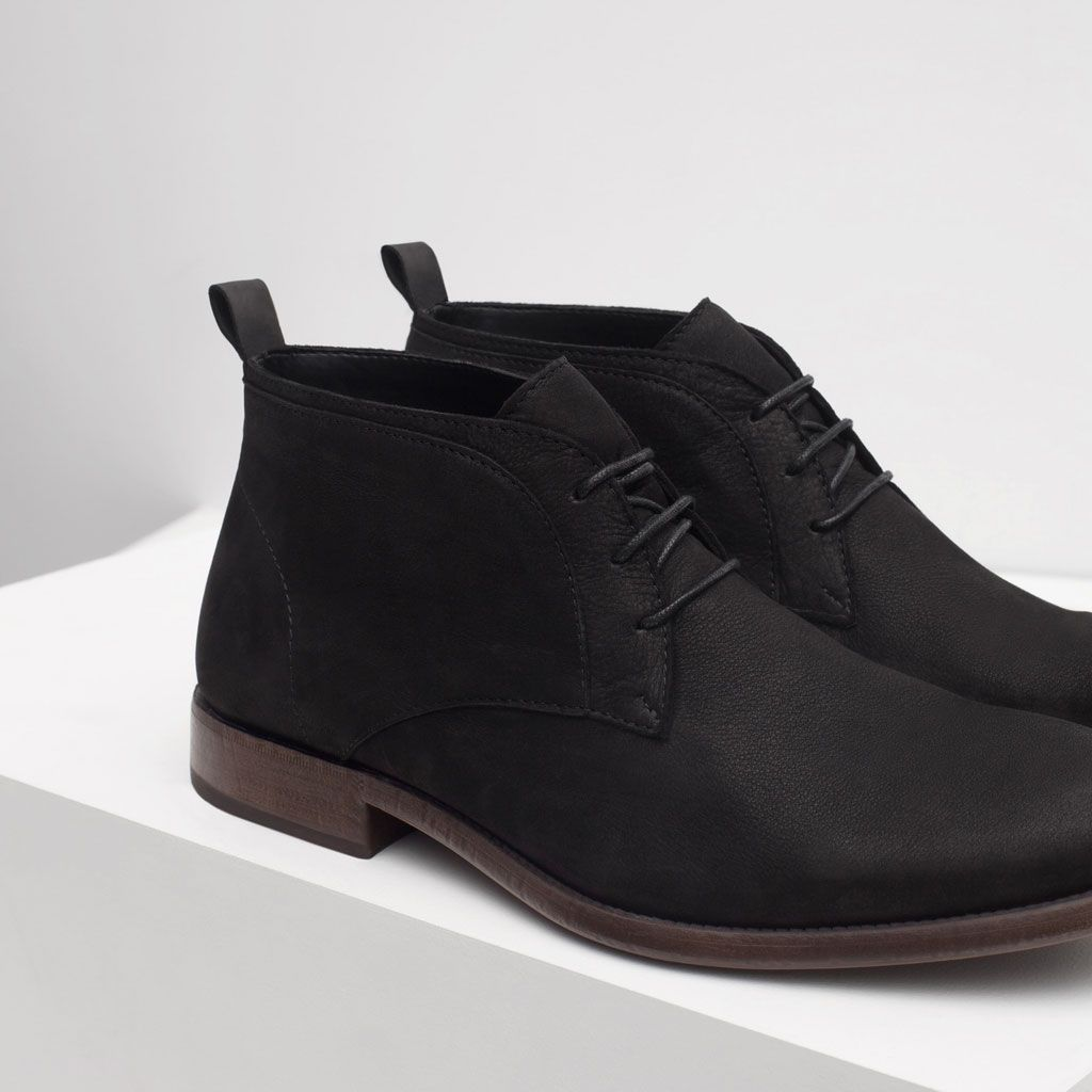 5 colors leather desert boots boots and ankle boots shoes man zara united states