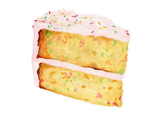 Rosa espolvorear la tarta de cumpleaños / / por KendyllHillegas, $20.00