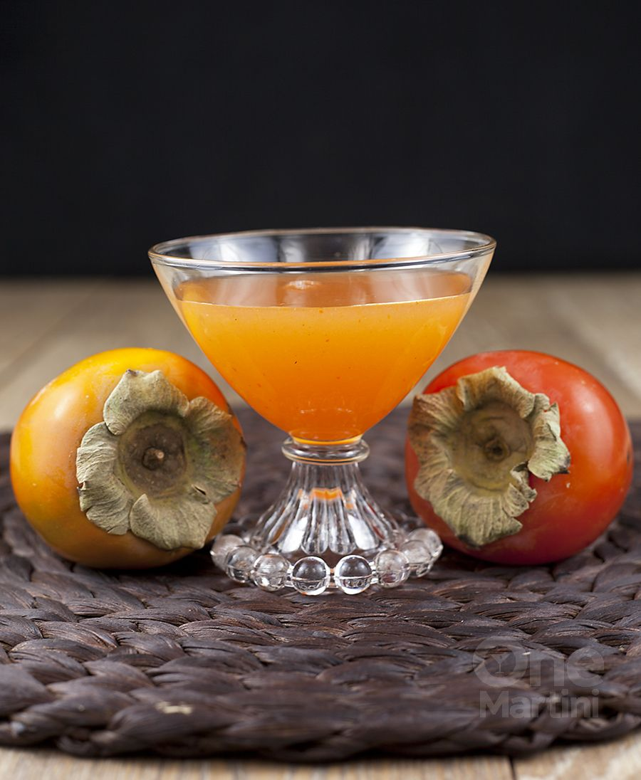 Thanksgiving Drinks With Vodka: Vodka Persimmon Cocktail Recipe