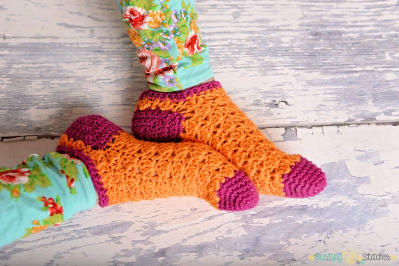 This Super Fun And Cute Free Crochet Sock Pattern Will Truly Add A