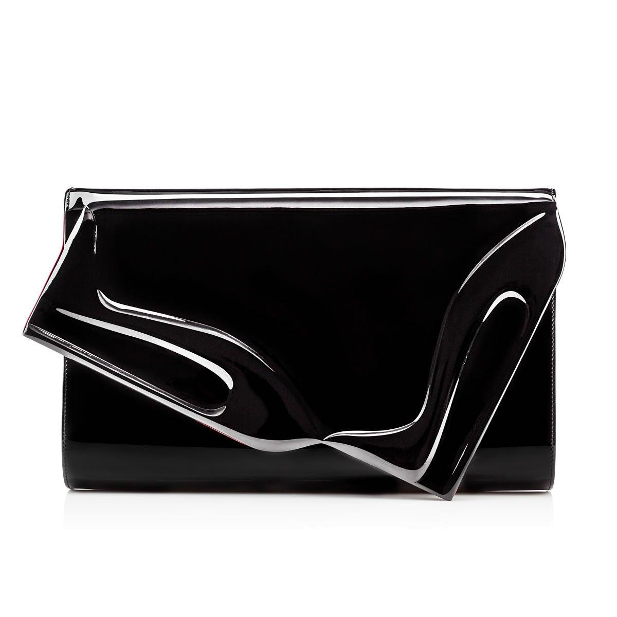 6bb44fa59aa CHRISTIAN LOUBOUTIN So Kate Clutch Black Patent Leather ...