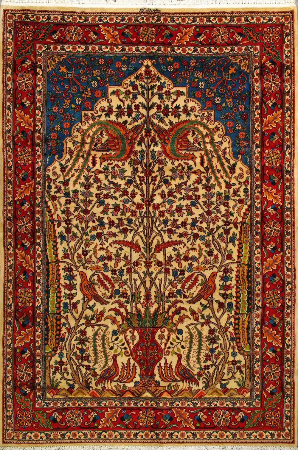 Handmade Bakhtiari Persian Rug Woven Authentic Persian