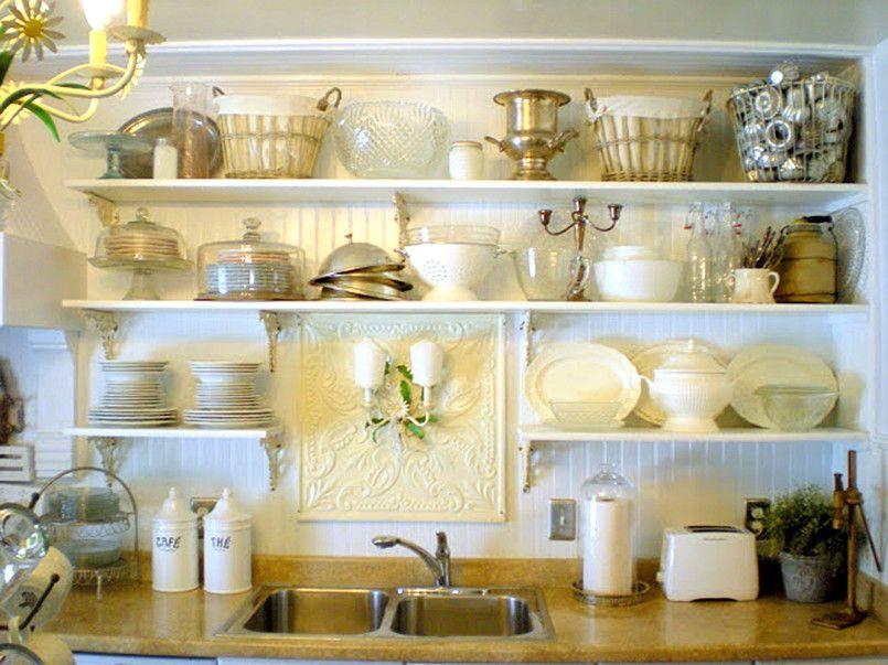 Decoracion de cocinas con baldas y - Estanterias para cocina ...