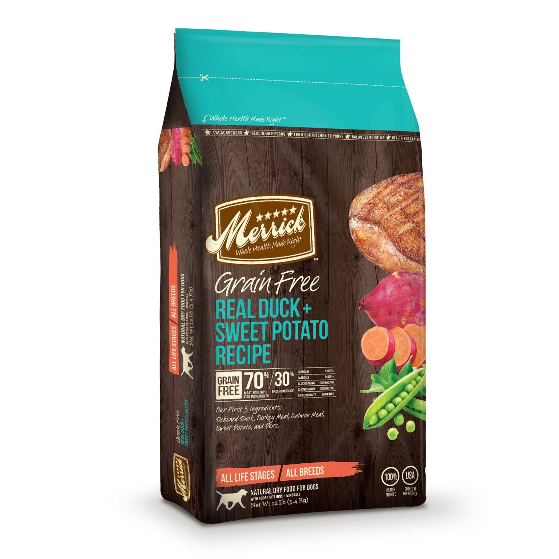 Merrick grain free real duck sweet potato dry dog food