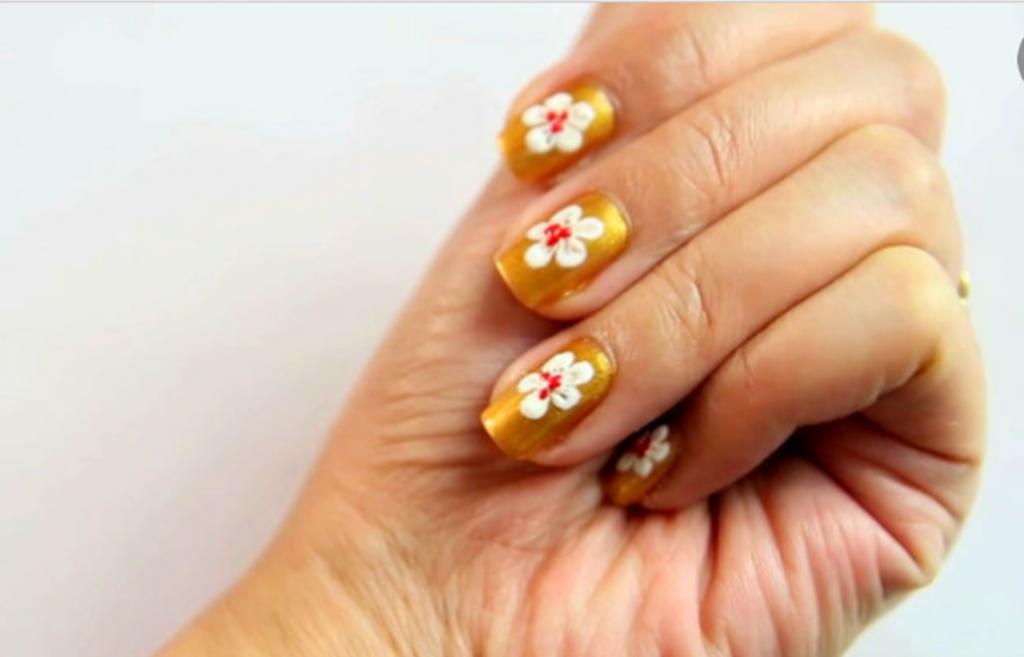 اظافر للمبتدئات كيفية رسم ورود على الأظافر Flower Nail Designs Flower Nails Flower Nail Art