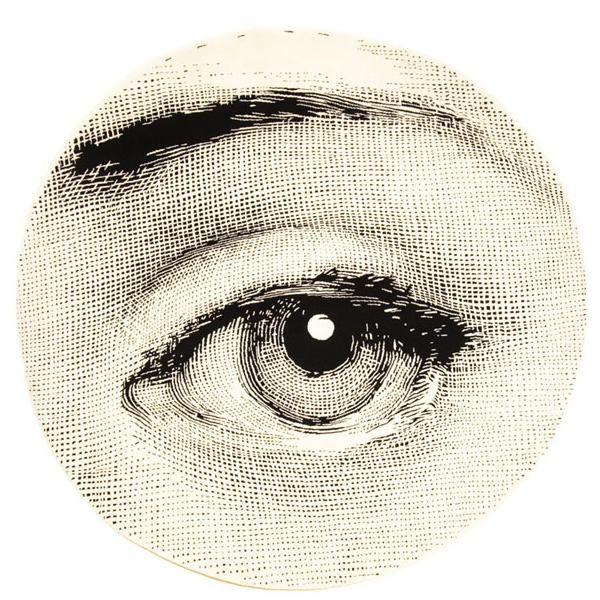 Occhio Tondo [carpet] by Piero Fornasetti produced by