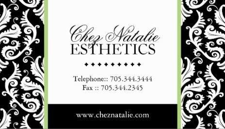 Elegant black and white damask green accent stripe esthetician elegant black and white damask green accent stripe esthetician business cards httpwww colourmoves