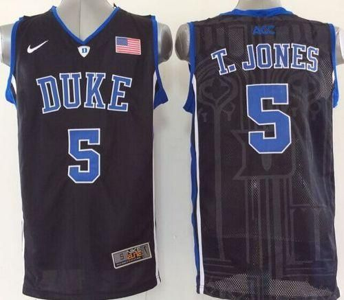 240e5b36dd0 ... where to buy blue devils 5 tyus jones black basketball stitched ncaa  jersey b1eb0 8cbf9