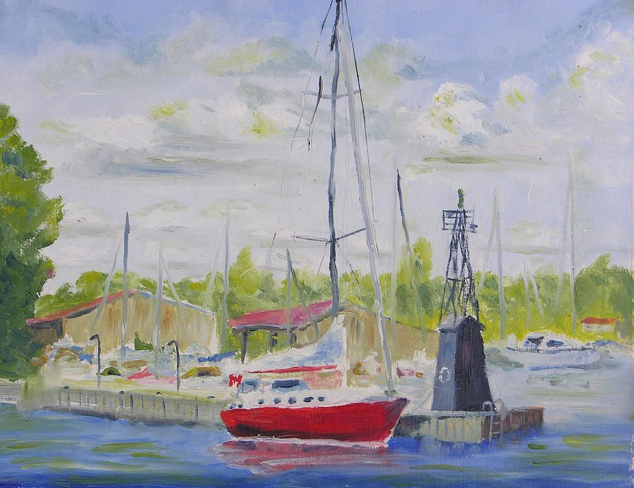 Antique Boat Museum-clayton Ny Painting